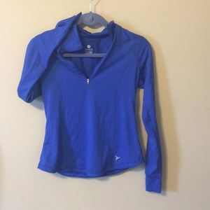 Blue Long-Sleeved Active Top